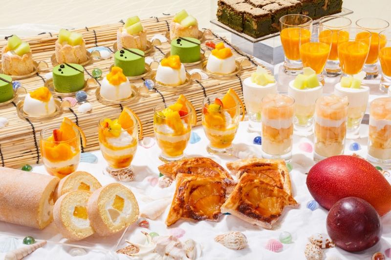 マンゴーやメロン、桃などのスイーツが楽しめる!「7月&8月 トロピカルスイーツブッフェ」