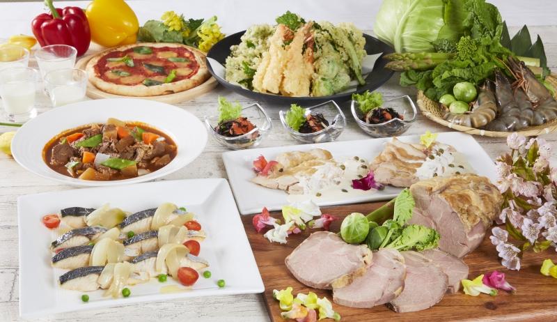 早春にふさわしい旬野菜など春の味わいをお届け!「神奈川県産相模豚と春薫るディナーブッフェ」